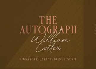 William Letter Signature Font