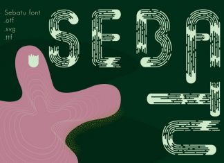 Sebatu modern font