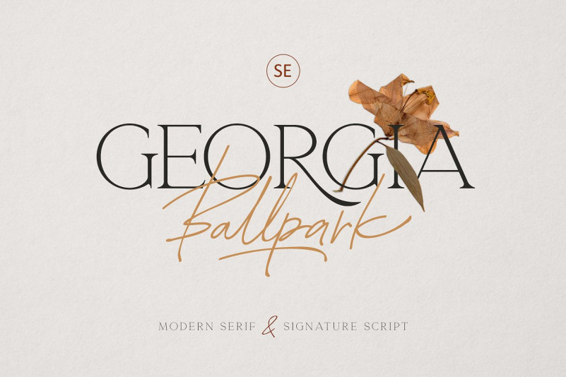 Georgia Ballpark Font
