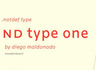 Nd Type One Font