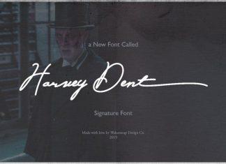 Harvey Dent Signature Font