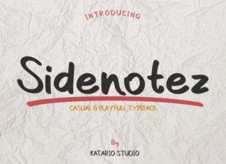 Sidenotez Font