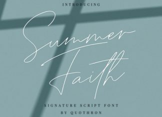 Summer Faith Font