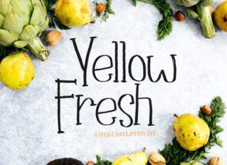 Yellow Fresh Font