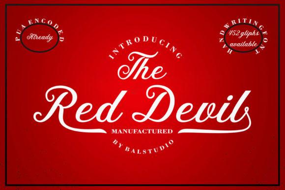 The Red Devil Font
