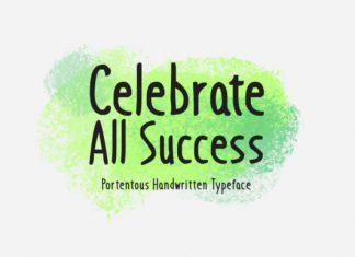 Celebrate All Success Font