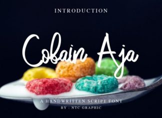 Cobain Aja Font