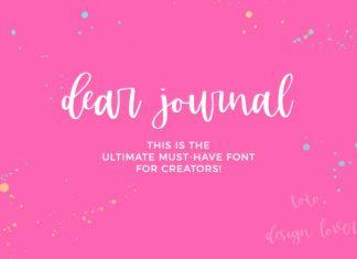 Dear Journal Font