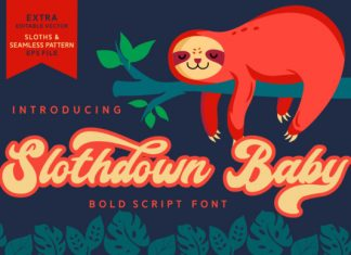 Slothdown Baby Font