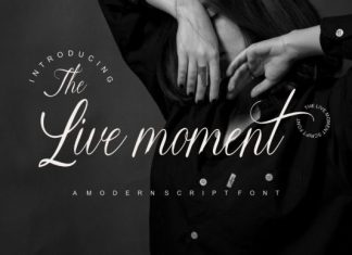The Live Moment Font