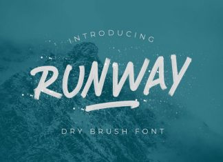 RUNWAY BRUSH FONT