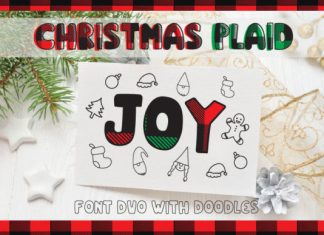 Christmas Plaid Font