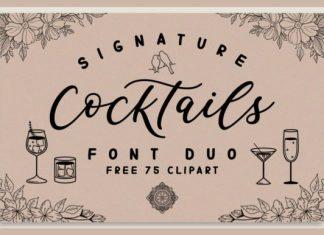 Signature Cocktails Font