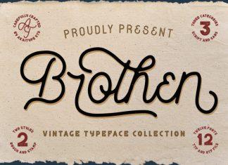 Brothen Vintage Font
