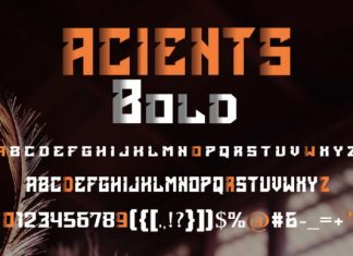 Acients Font