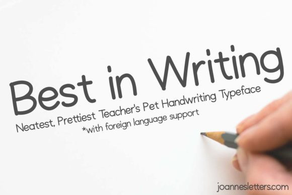 Best in Writing Font