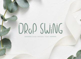 Drop Swing Font