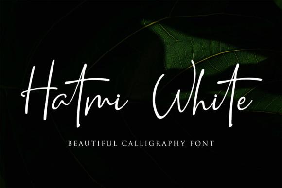 Hatmi White Font