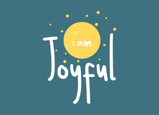 I Am Joyful Font