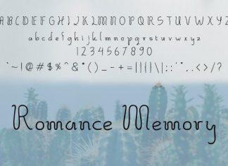 Romance Memory Font