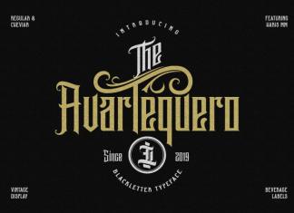 Avartequero Font