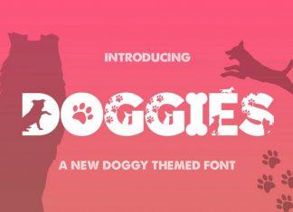 Doggies Silhouette Font