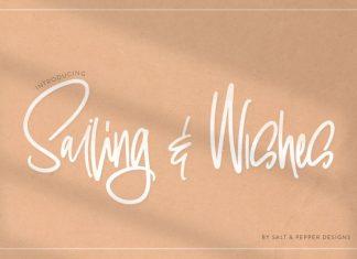 Sailing & Wishes Font