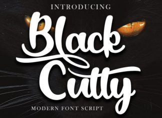 Black Catty Font