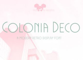 Colonia Deco Font