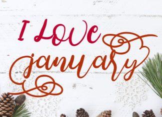 I Love January Font