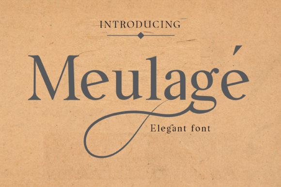 Meulage Font