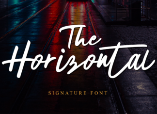 The Horizontal Font