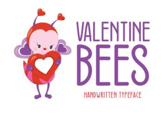 Valentine Bees Font
