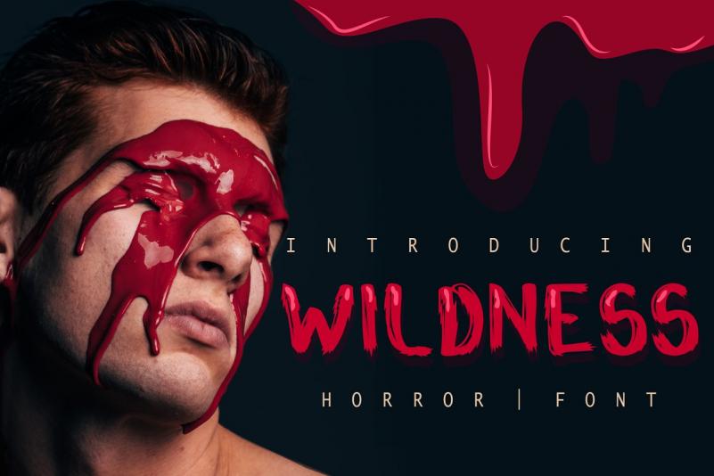 Wildness Blood Horror Font
