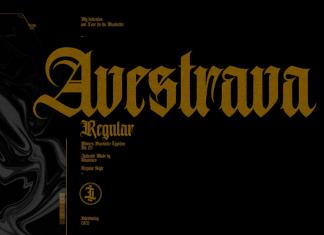 Avestrava Regular Font