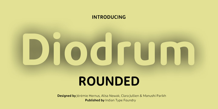 Diodrum Rounded Font