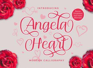 Angela Heart Font