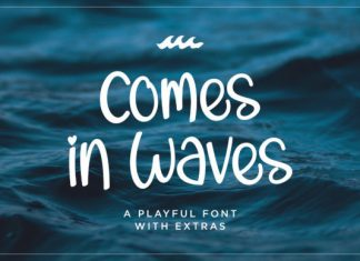 Comes in Waves Font