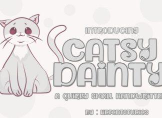 Dainty Catsy Font