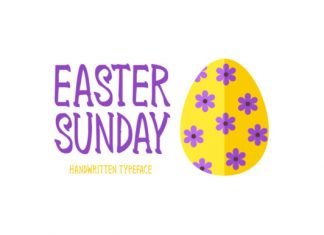 Easter Sunday Font