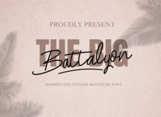 The Big Battalyon Font