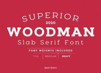 Woodman Font