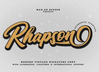 Rhapson Font
