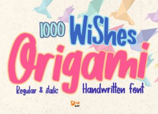 1000 Wishes Origami Font