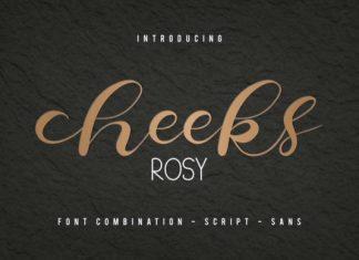 Cheeks Rosy Font