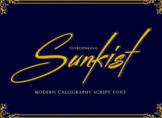 Sunkist Font